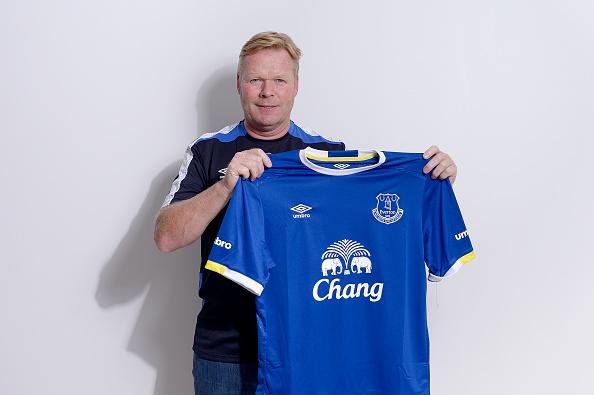 Ronald Koeman ved præsentationen i Everton. Foto: Getty Images/Tony McArdle.