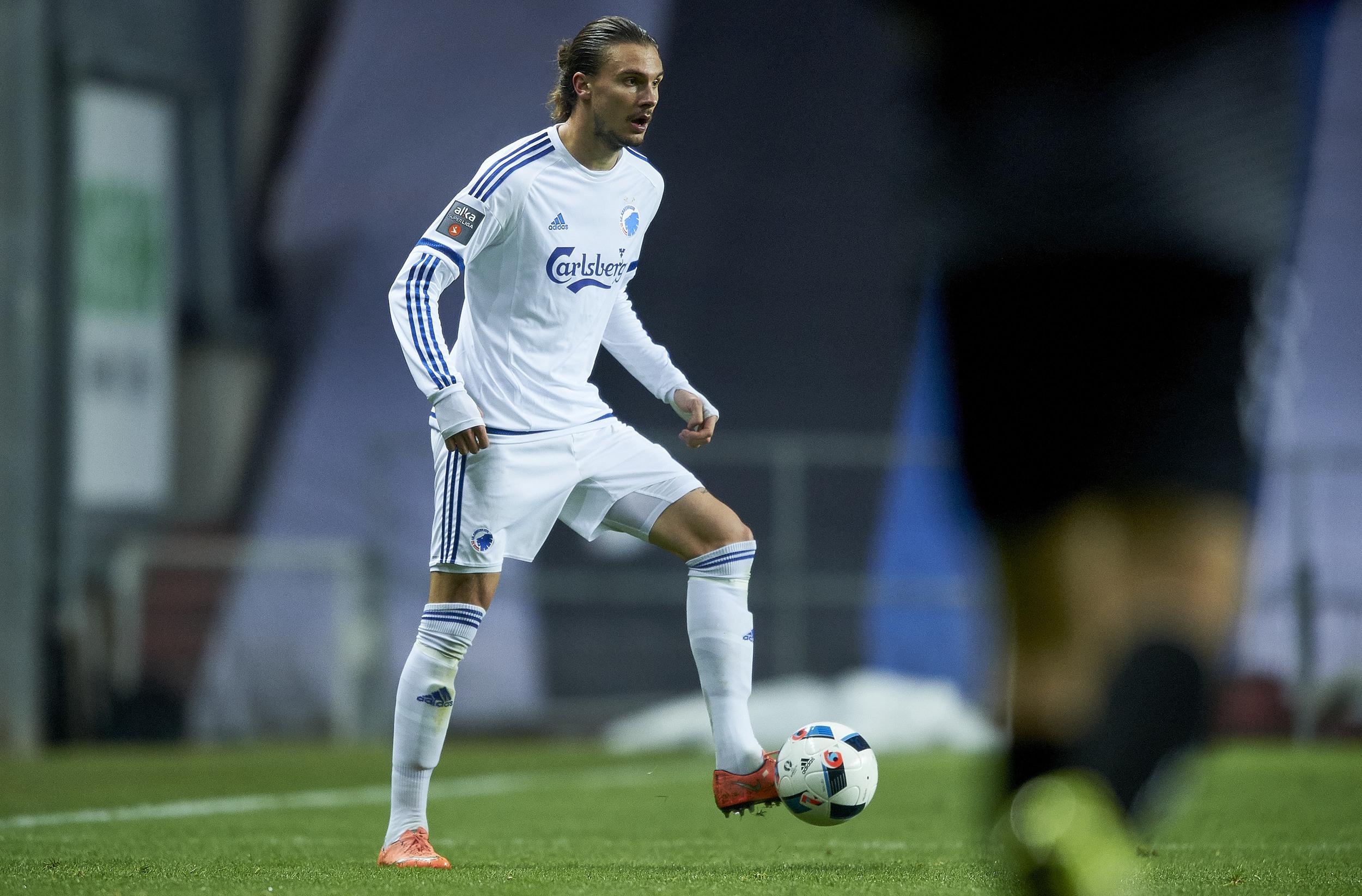 Erik Johansson et pletskud i FC København. Foto: Getty Images/Lars Rønbøg.
