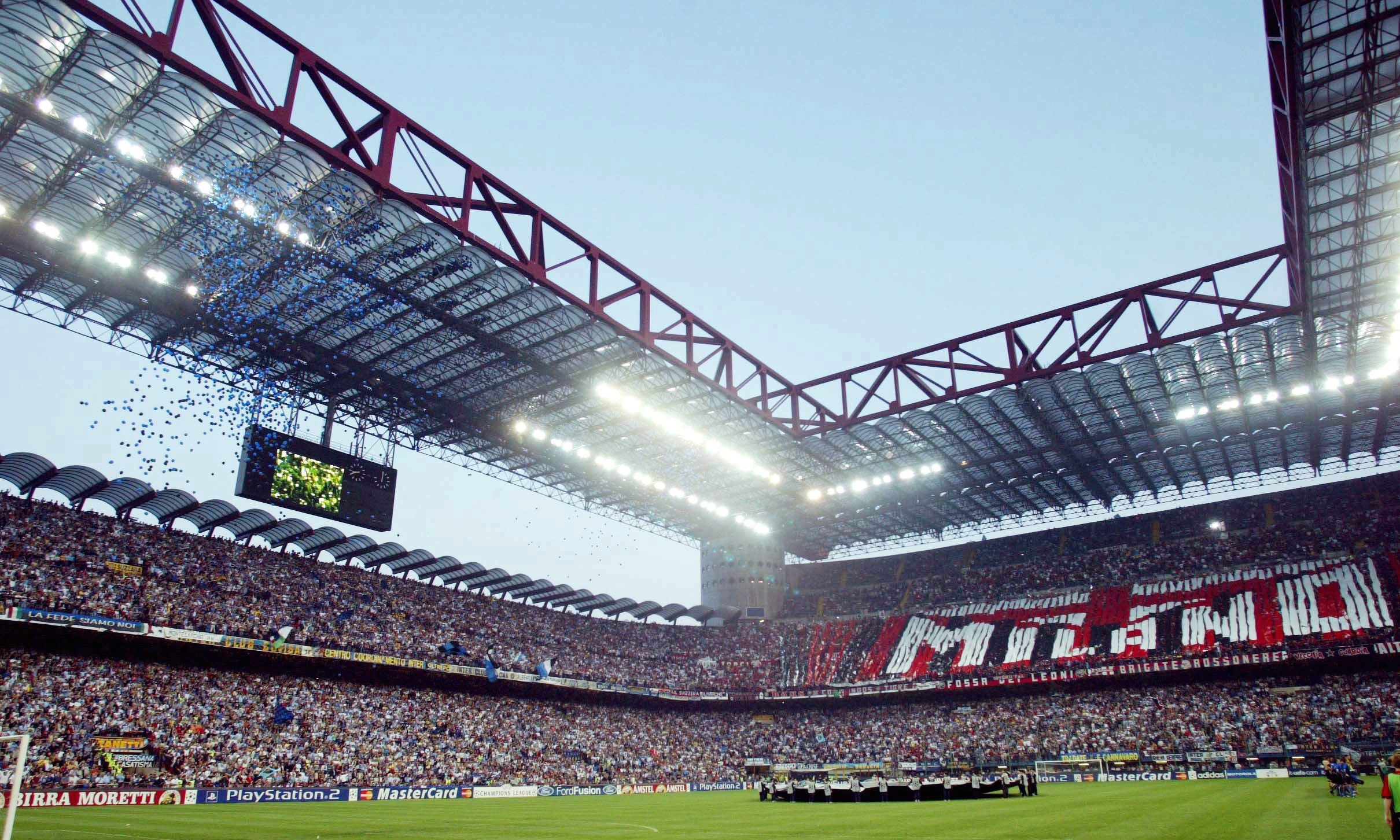 Fra et af derby-møderne mellem de to Milano-klubber. Foto: Getty Images/Sandra Behne.