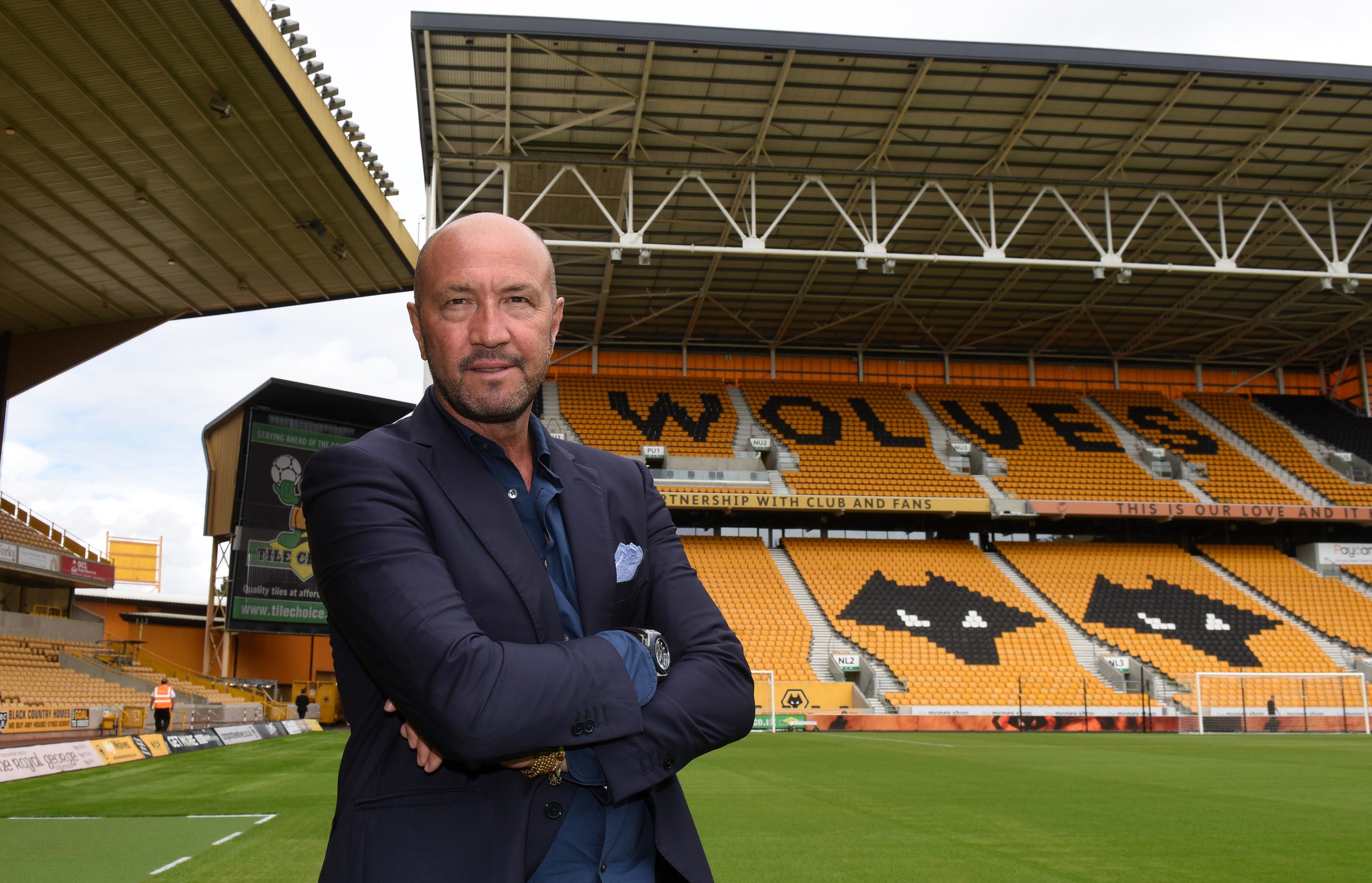 Walter Zenga under præsentationen som ny manager i Wolverhampton. Foto: Getty Images/Sam Bagnall.