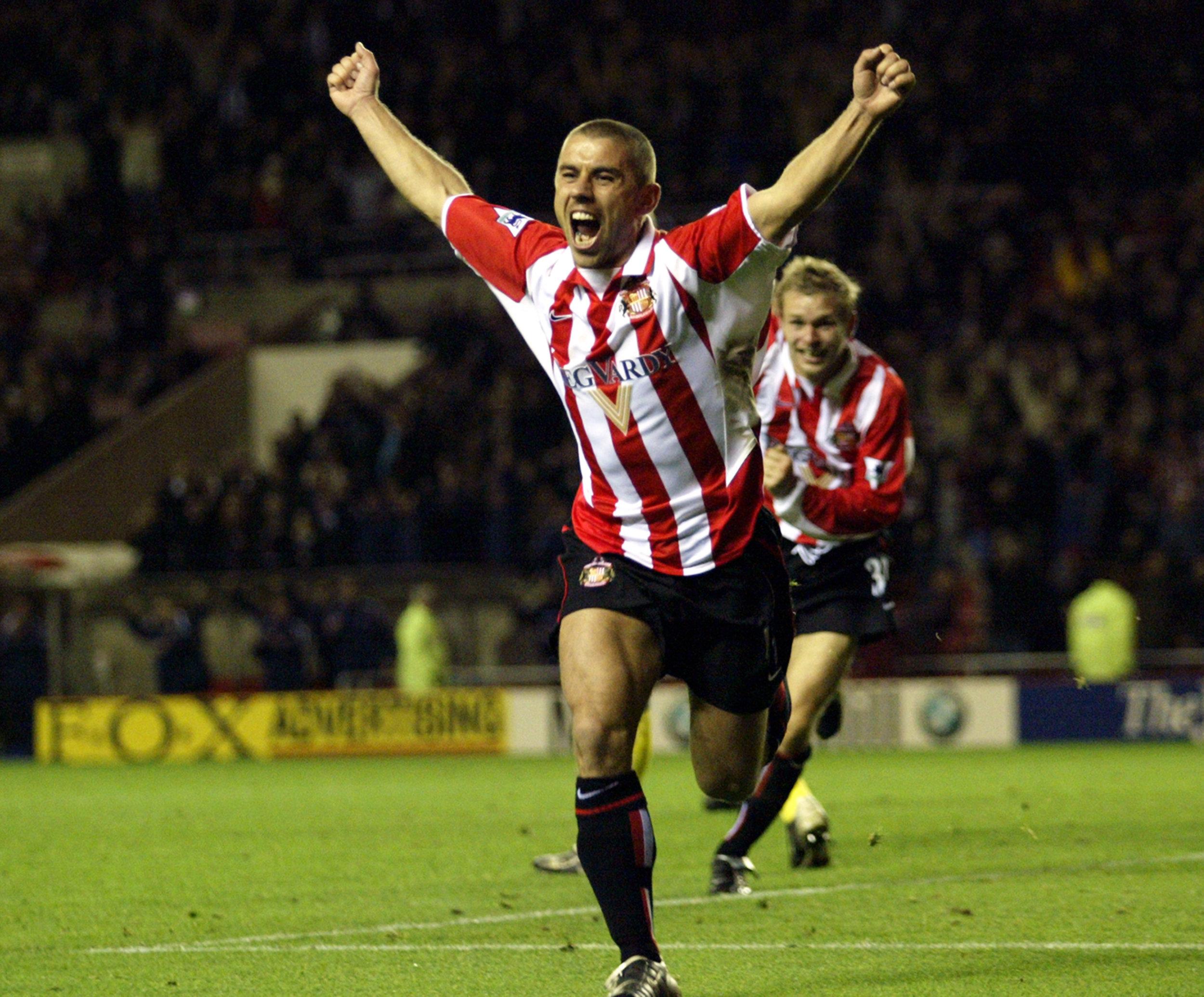 Kevin Phillips i en af de mange stjernestunder for Sunderland. Foto: Getty Images/Michael Steele