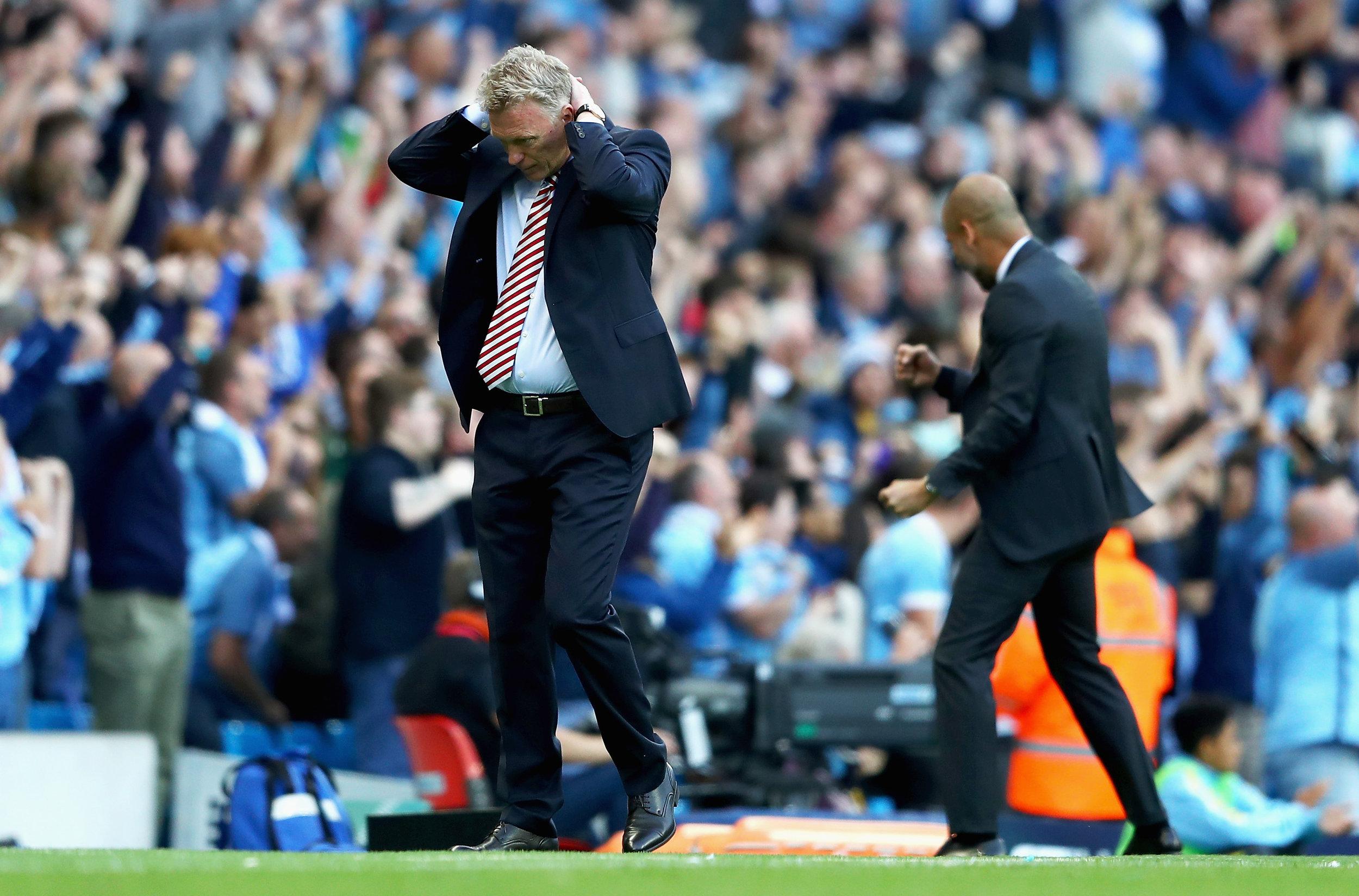 Sunderland har lavet selvmål kort før tid i premierekampen mod Manchester City. Symptomatisk?, spørger Christian Krabbe Barfoed.   Foto: Michael Steele/Getty Images