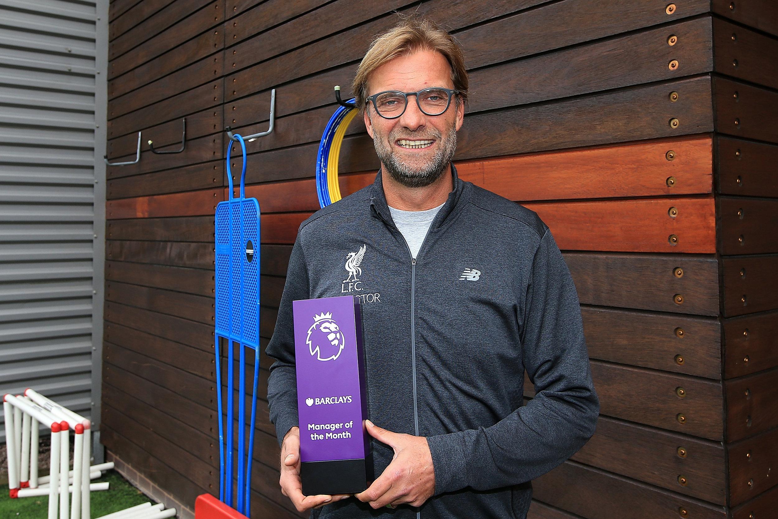 Månedens manager i Premier League: Jürgen Klopp.   Foto: Getty Images