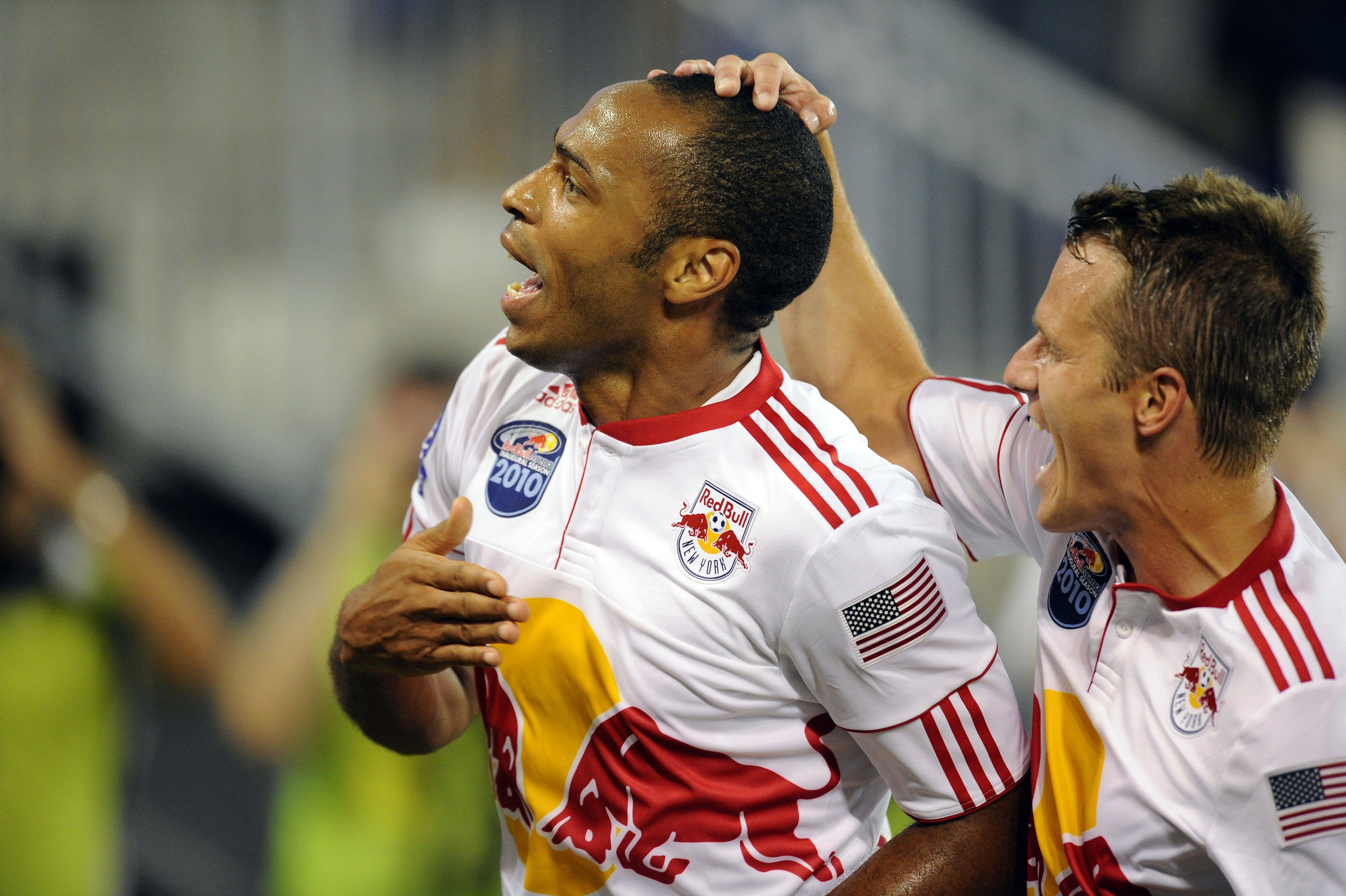 Thierry Henry scorer for New York Red Bulls i en venskabskamp mod Tottenham.   Foto: Getty Images