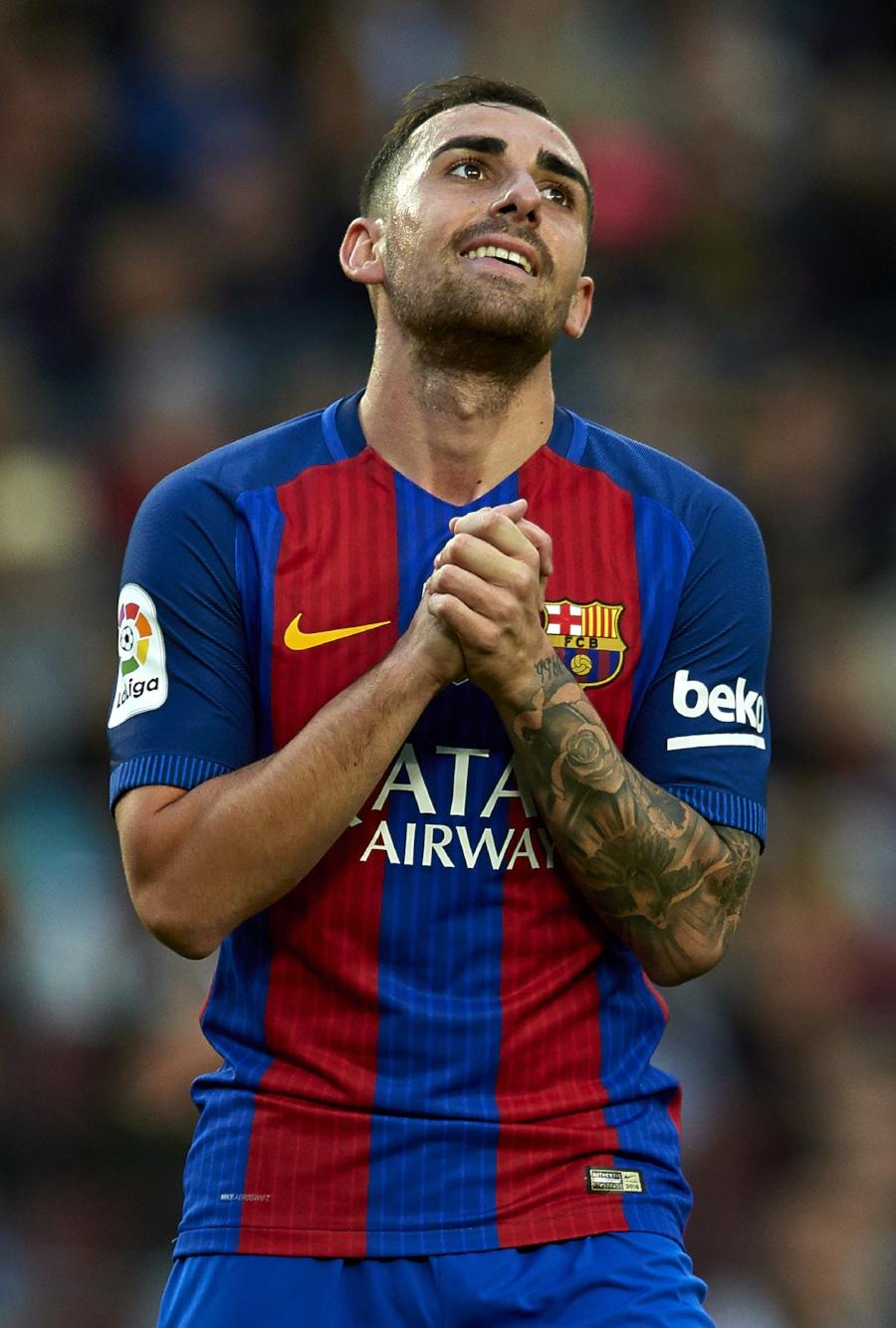 Paco Alcácer havde ikke den bedste aften på Camp Nou.   Foto: Getty Images