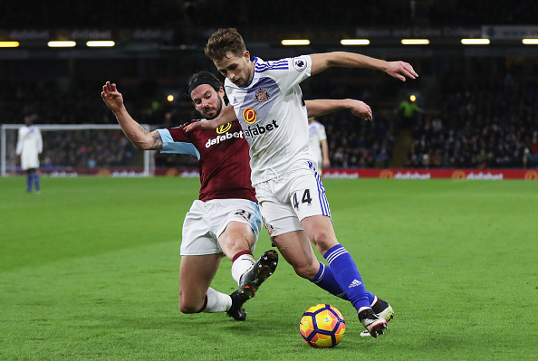 Adnan Januzaj i flot aktion mod Burnley. Foto: Getty Images/Chris Brunskill