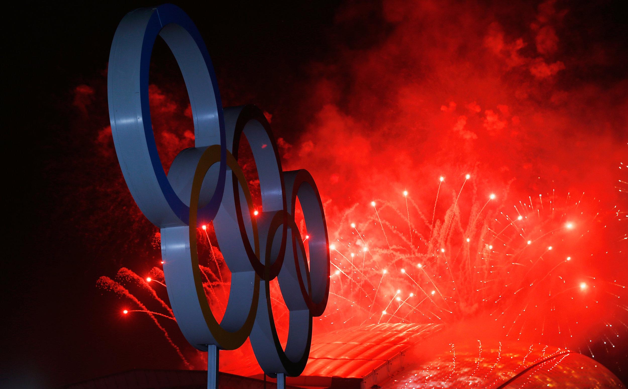 Fra afslutningsceremonien til vinter-OL i Sotji. Foto: Getty Images