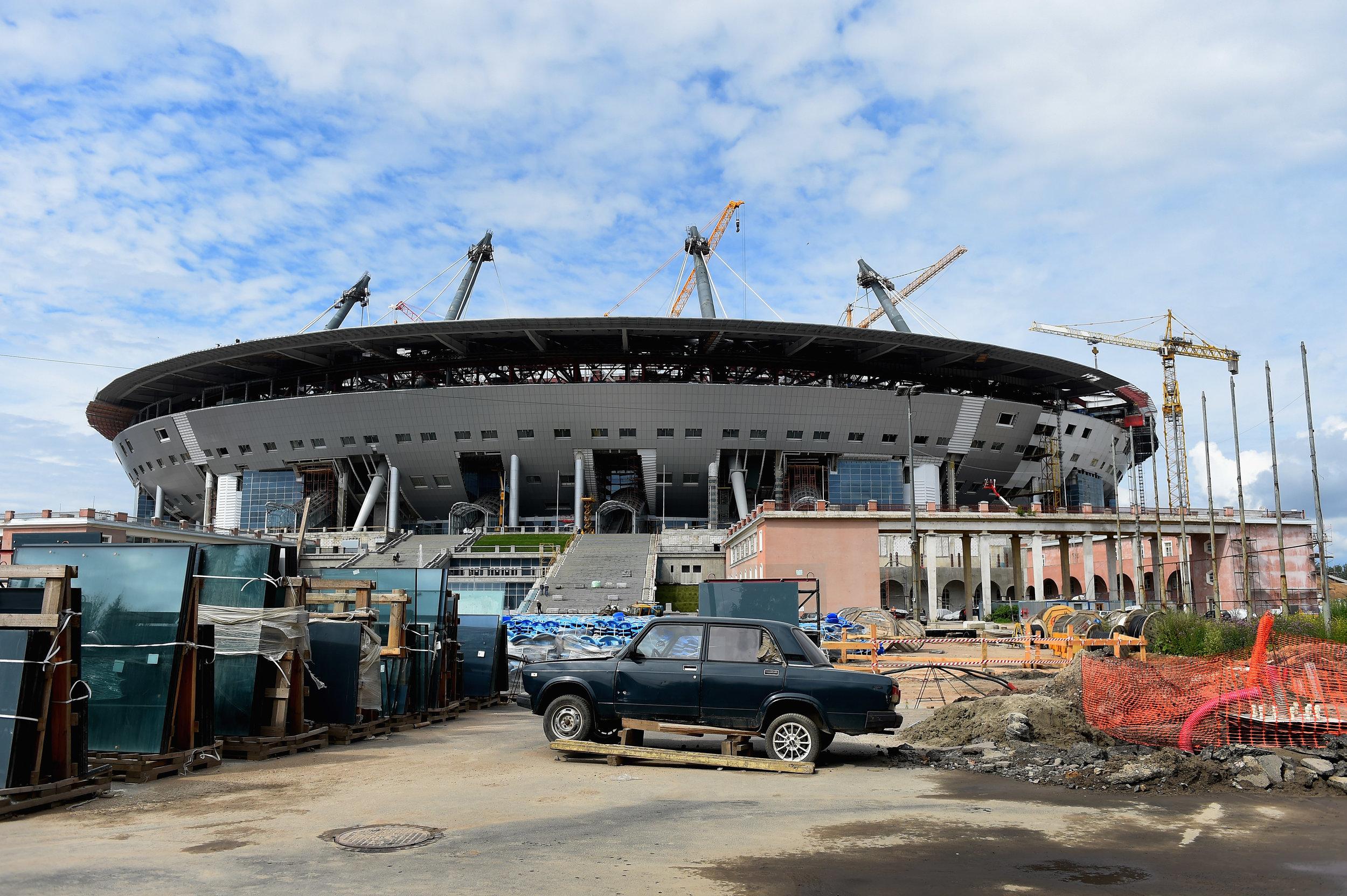 Stadion opføres i Stk. Petersborg. Foto: Getty Images