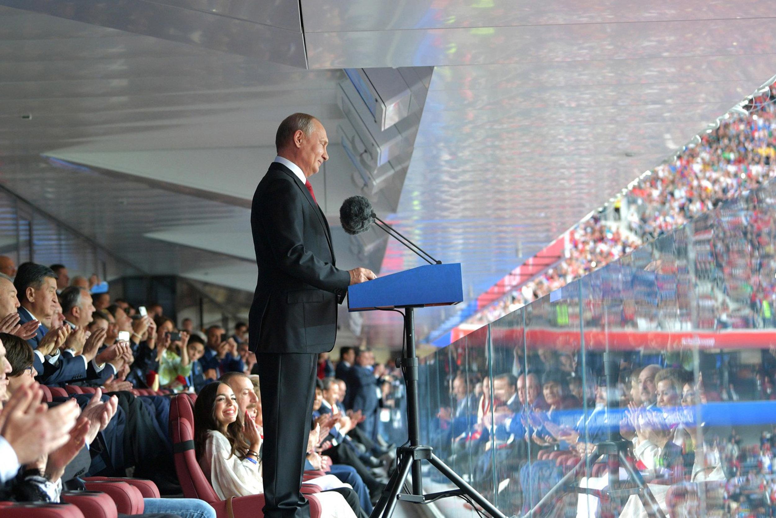Putin åbner VM. Foto: Getty Images