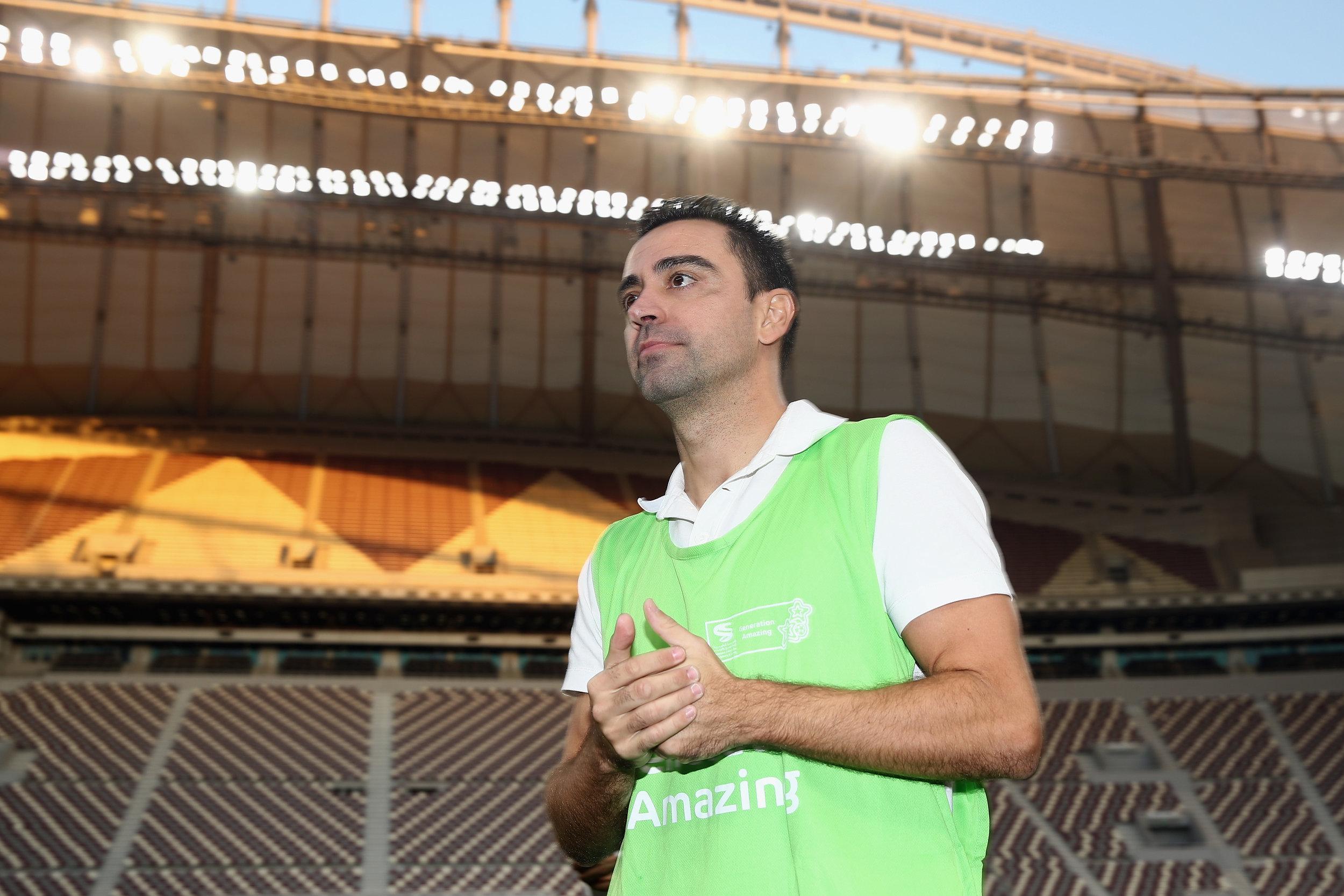 Xavi Hernendez på Stadion i Qatar. Foto: Getty Images