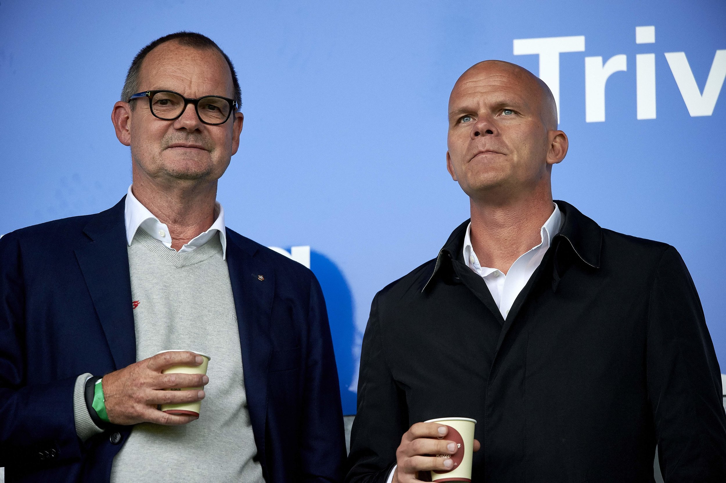 Lars Fournais med tidligere sportschef, Jens Andersson. Foto: Getty Images