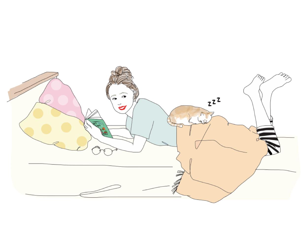 なぜ何 寝ながら勉強する女の子.png