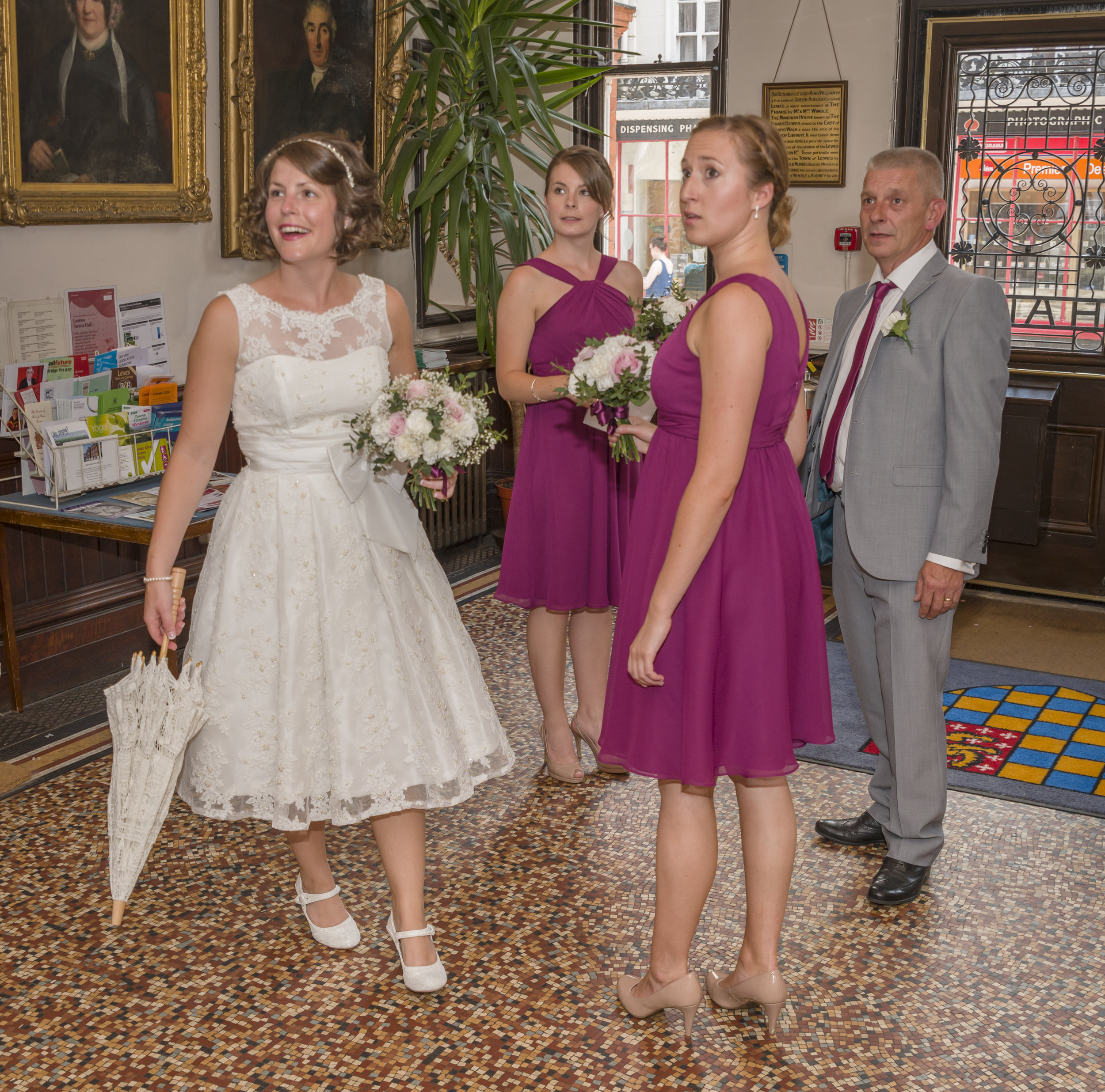 Wedding Photography - Lewes, Town Hall 3