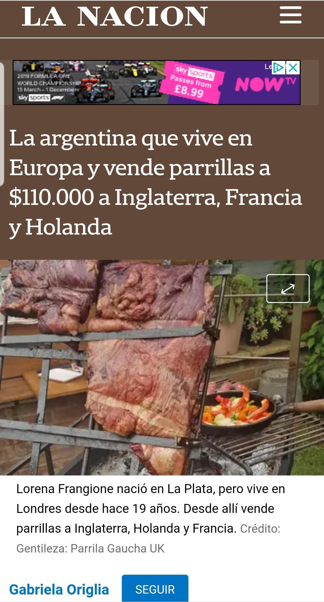 La Nacion Newspaper,Argentina April 2019 - Written by Gabriela Origliahttps://www.lanacion.com.ar/economia/la-argentina-vive-europa-vende-parrillas-110000-nid2239791