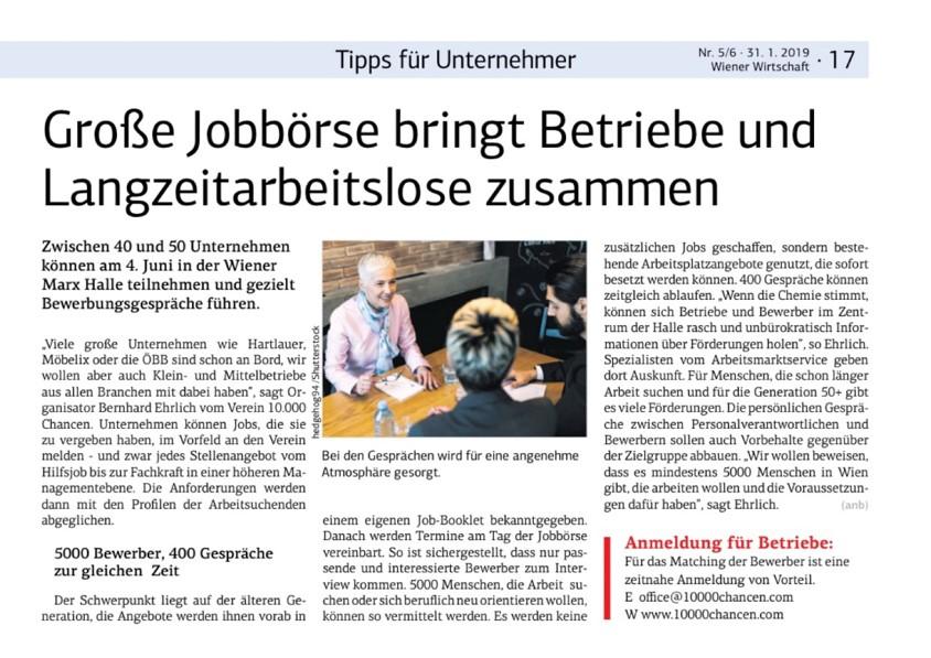 Wiener Wirtschaft 5/6 31.1.2019