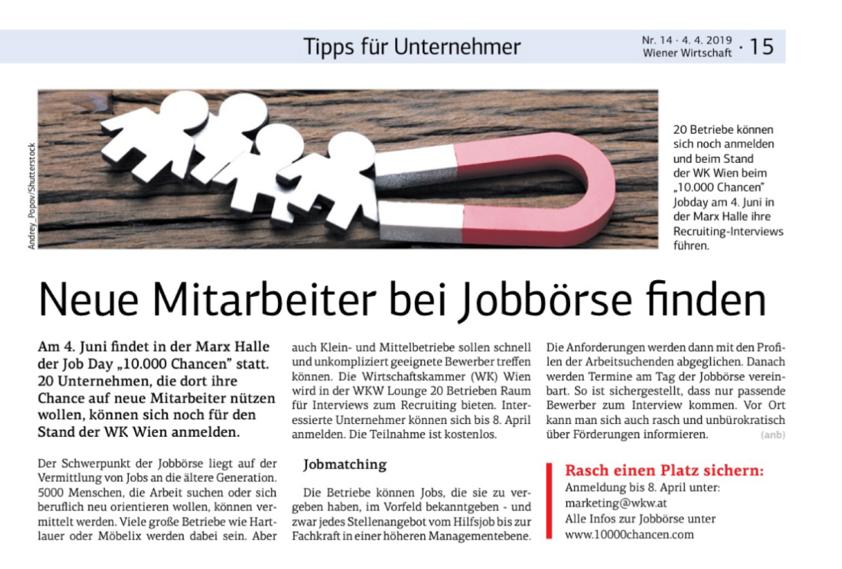 Wiener Wirtschaft Nr. 14 4.4.2019