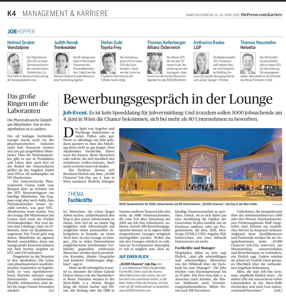 Die Presse 13/14.4.2019
