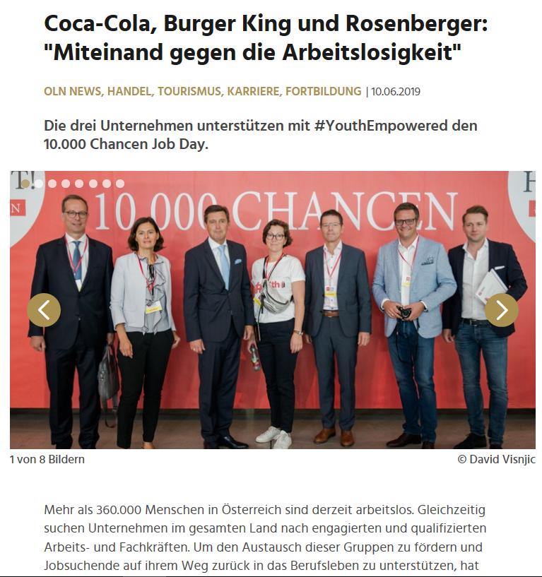 leadersnet.at vom 10.6.2019 mehr auf:  https://www.leadersnet.at/news/37517,coca-cola-burger-king-und-rosenberger-miteinand-gegen-die.html