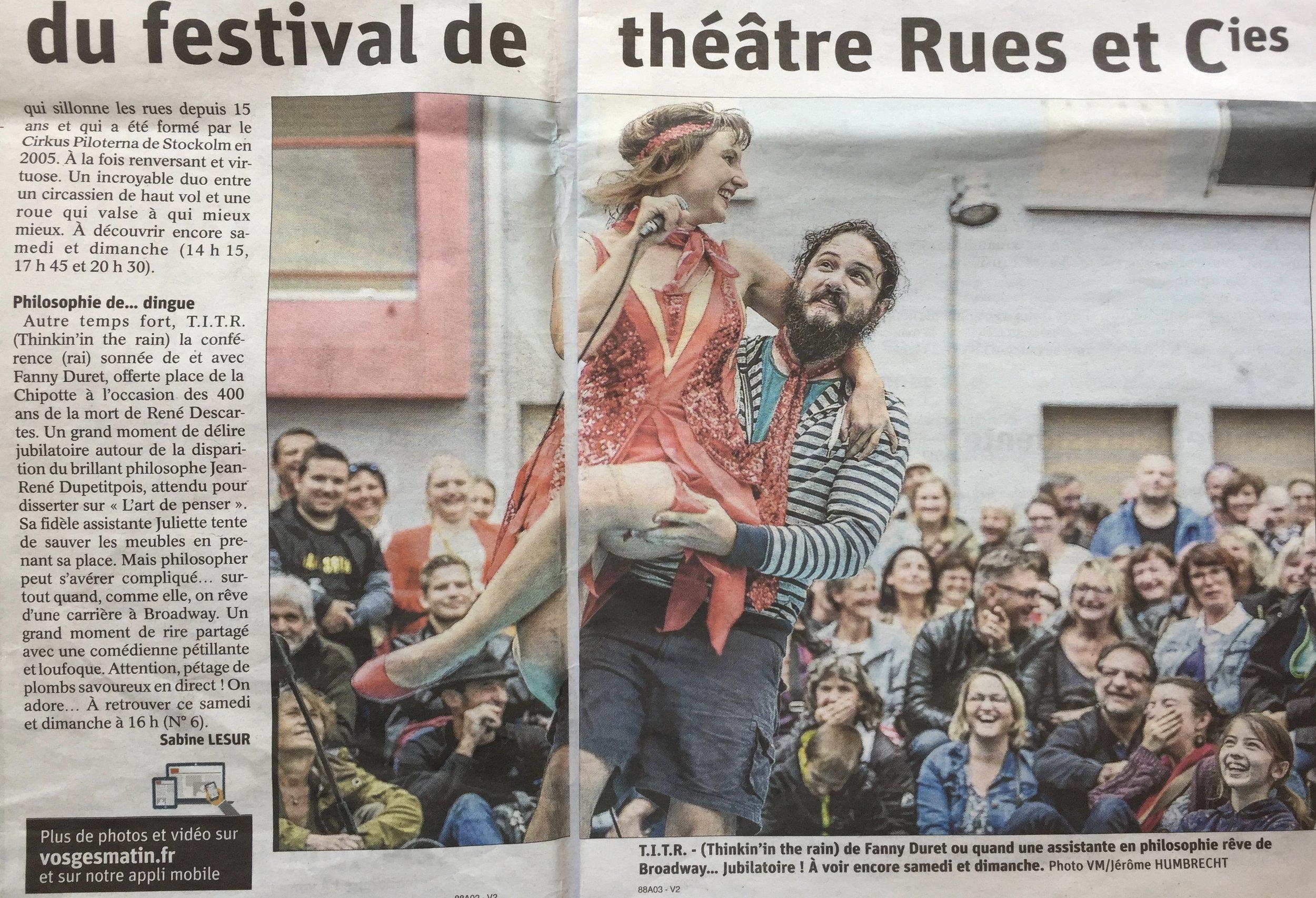 Au festival Rues et Cies, à Épinal