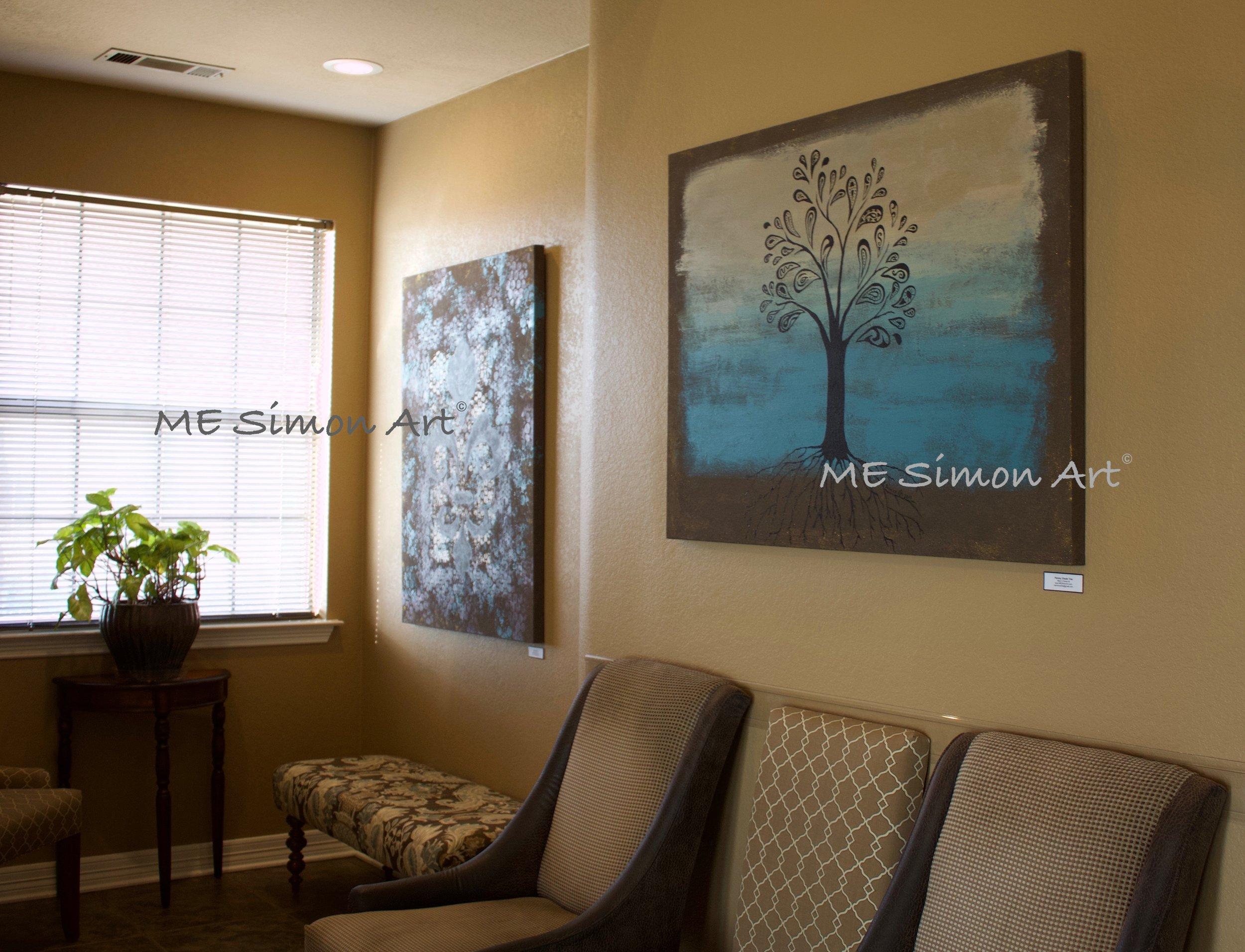 Office artwork on display in Keller, TX.
