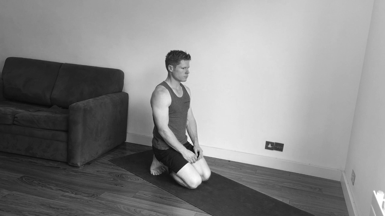 Toe stretch, kneeling