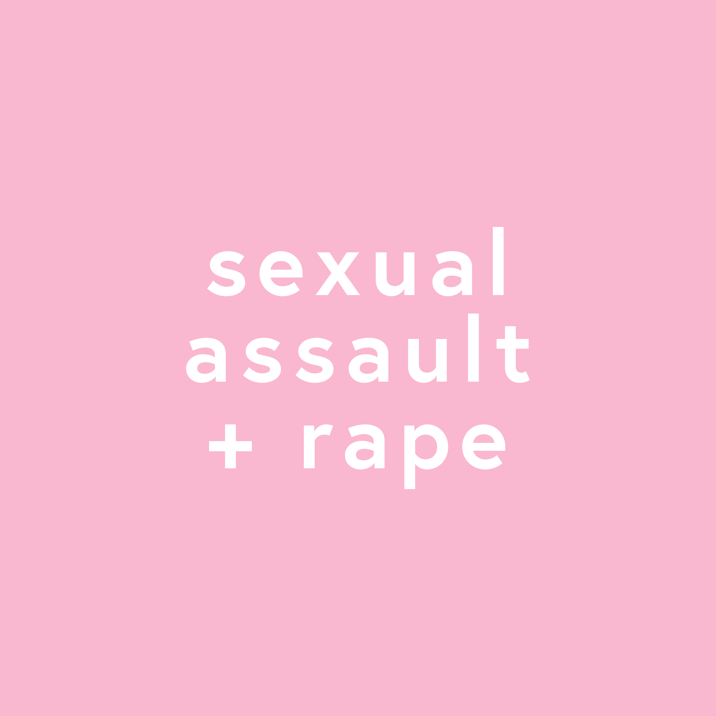 Sexual Assault & Rape Resources