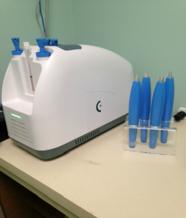 Located in both offices we have The Cryopen. This system is used to freeze warts away without using harsh chemicals.