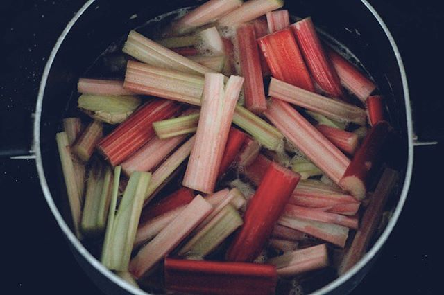 Anyone heading to the farmers market this morning to pick up rhubarb?! 😍 If so, try my easy, sweet compote. Recipe in archives.