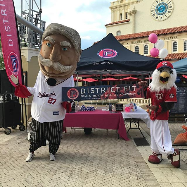 See what #Screech and #RacingPresident #BillTaft are getting up to this evening at @districtfitwpb. #FITTEAMBallpark #ItStartsHere