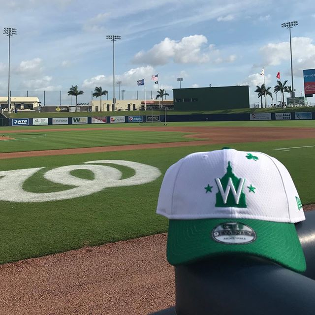 Come spend your St. Patrick's Day with us at #FITTEAMBallpark! The @Nationals will be taking on the Mets at 1:05pm on March 17th!  Pick up your St. Patrick's Day themed @Nationals and @astrosbaseball gear in the team store today! #ItStartsHere