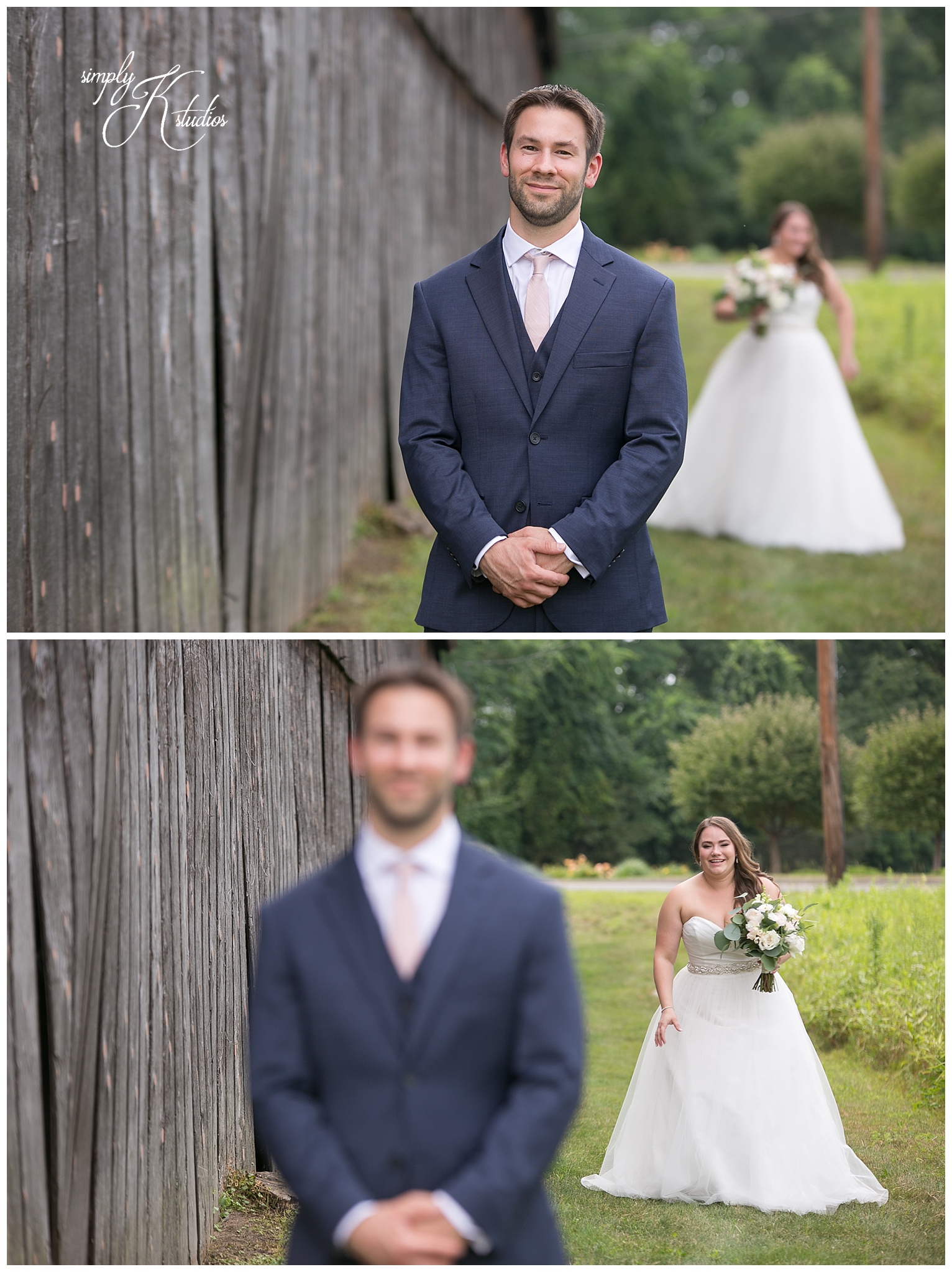 First Look Photos at a Rustic Wedding.jpg