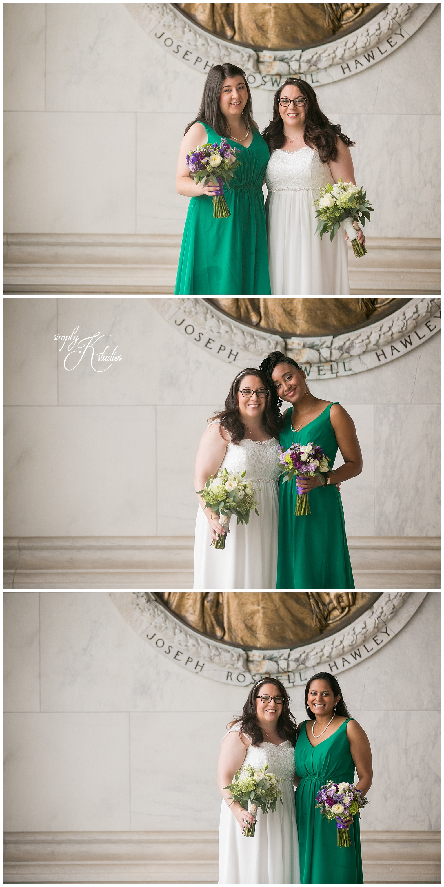 Bridesmaids wearing green.jpg