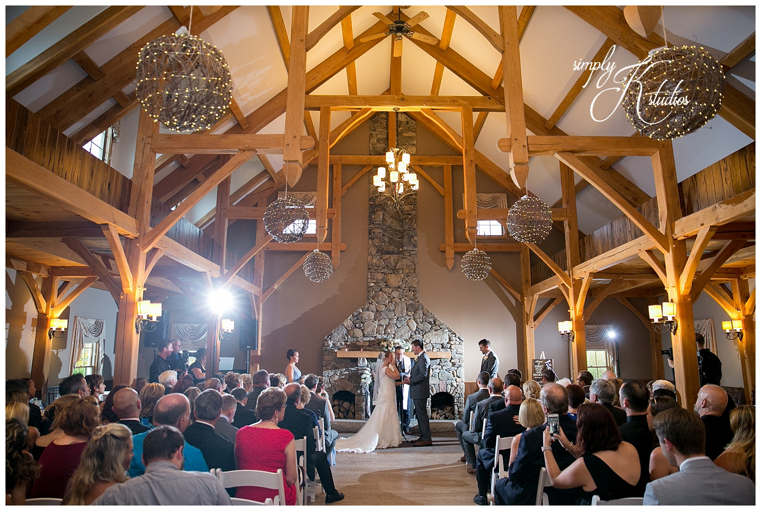 Indoor Wedding Ceremony at Harrington Farm.jpg