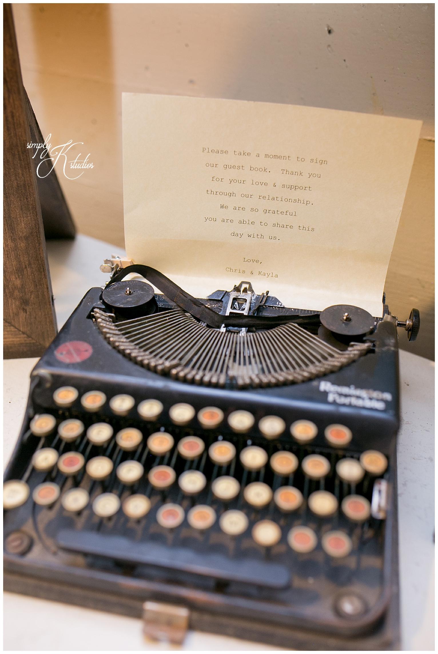 Vintage Typewriter at a Wedding.jpg