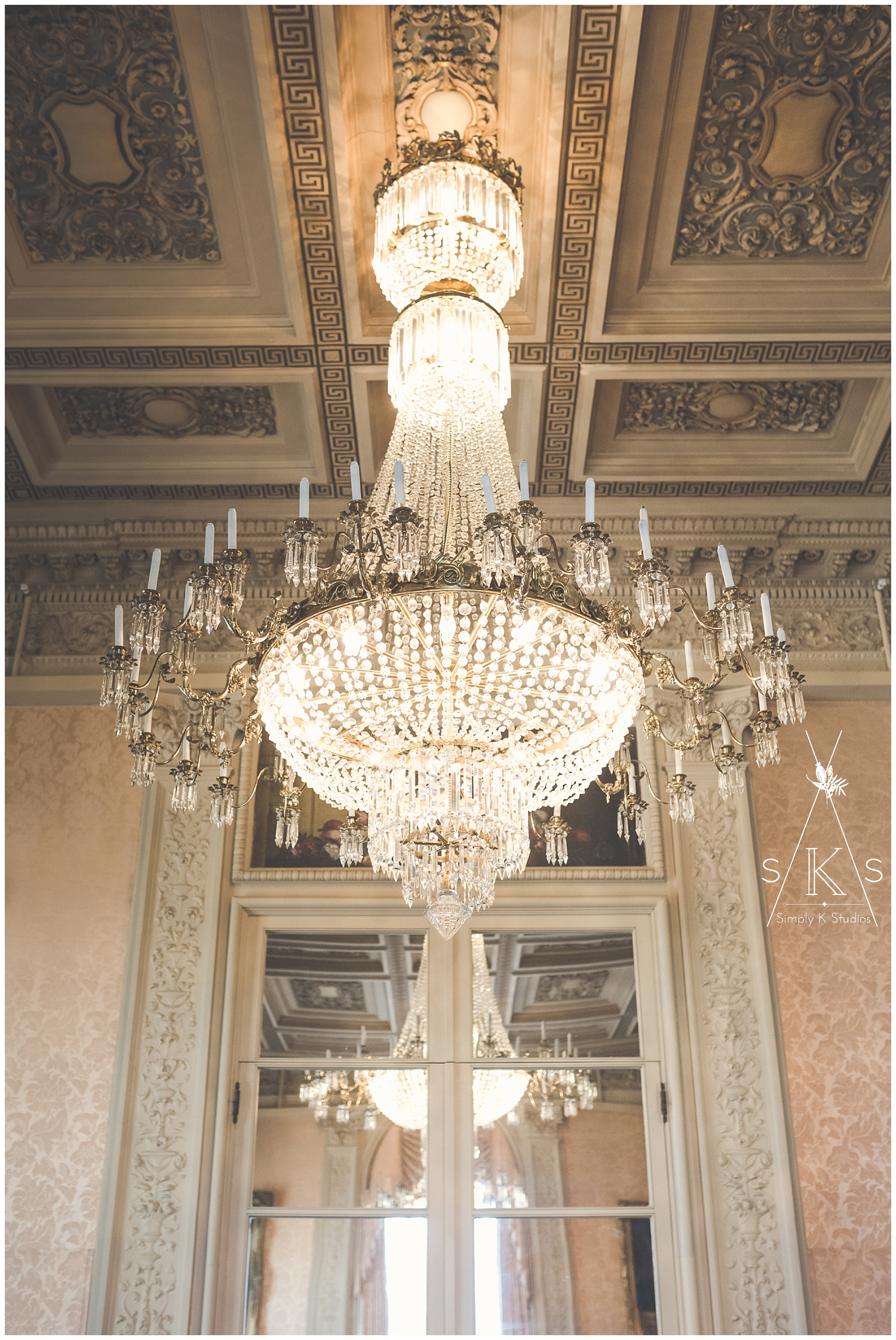Chandeliers in Rosecliff Mansion