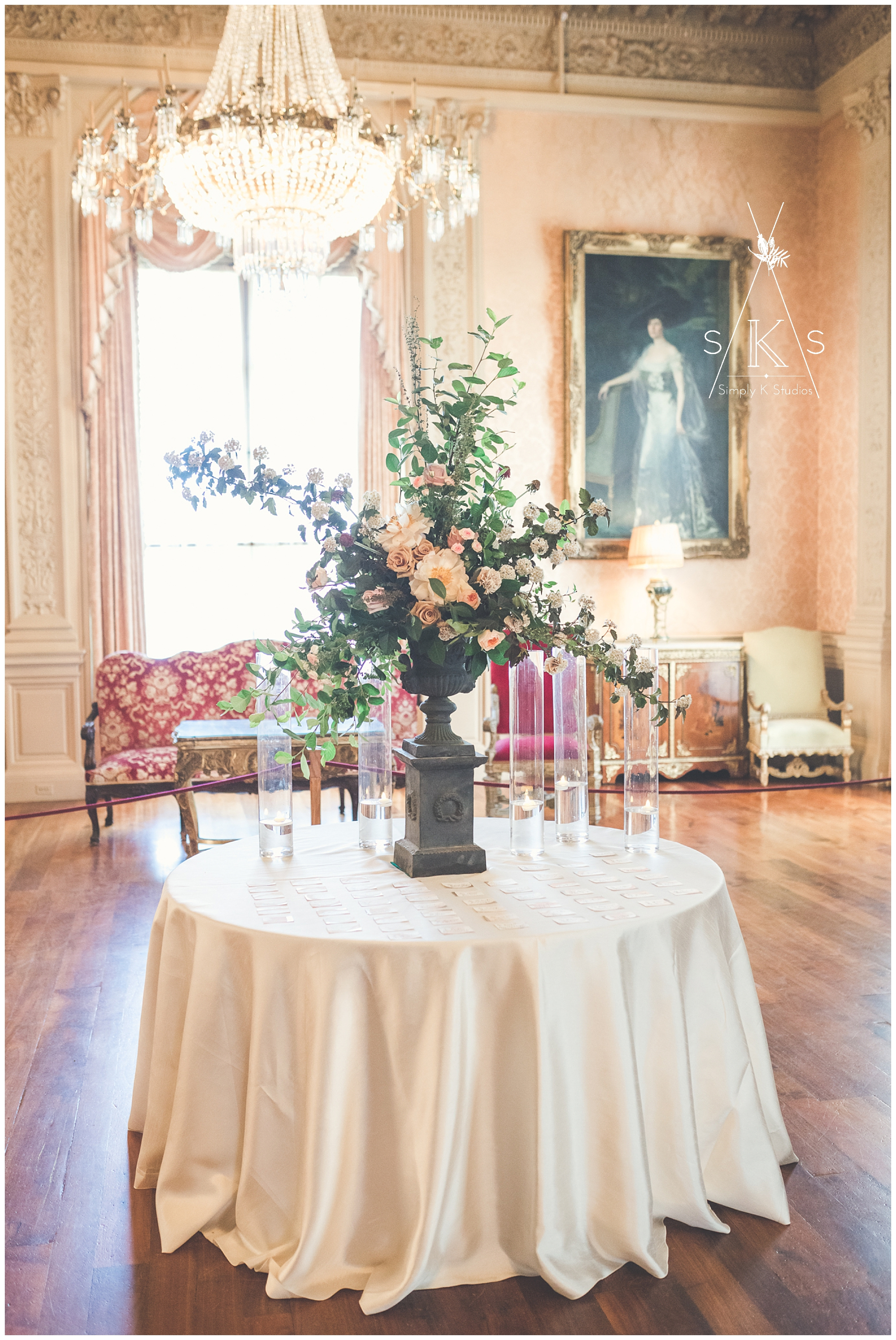 Florist Design at Rosecliff Mansion