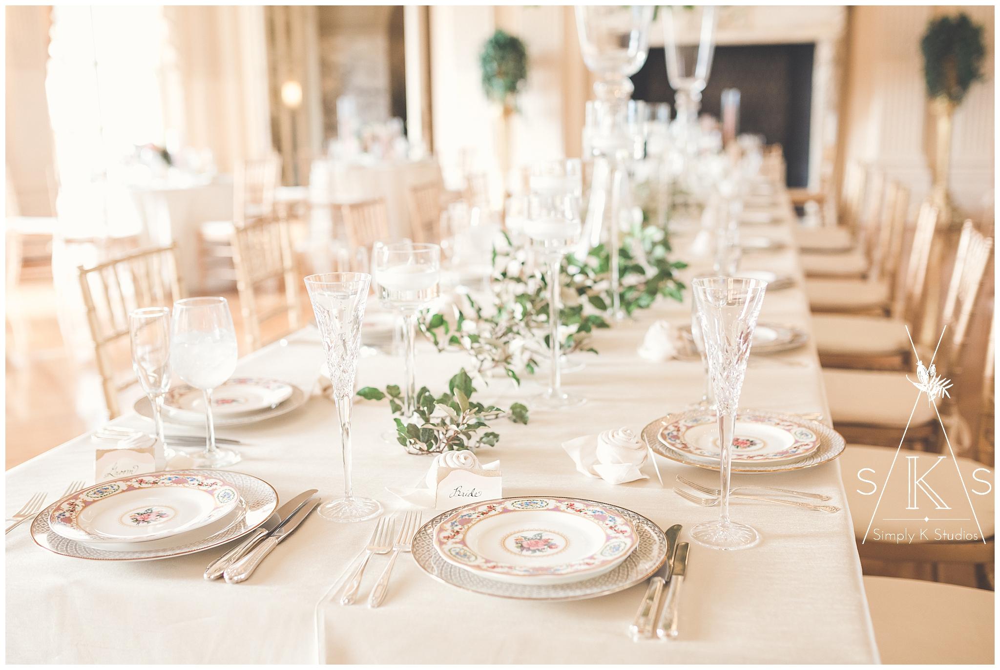 Candlelit wedding reception in Newport RI