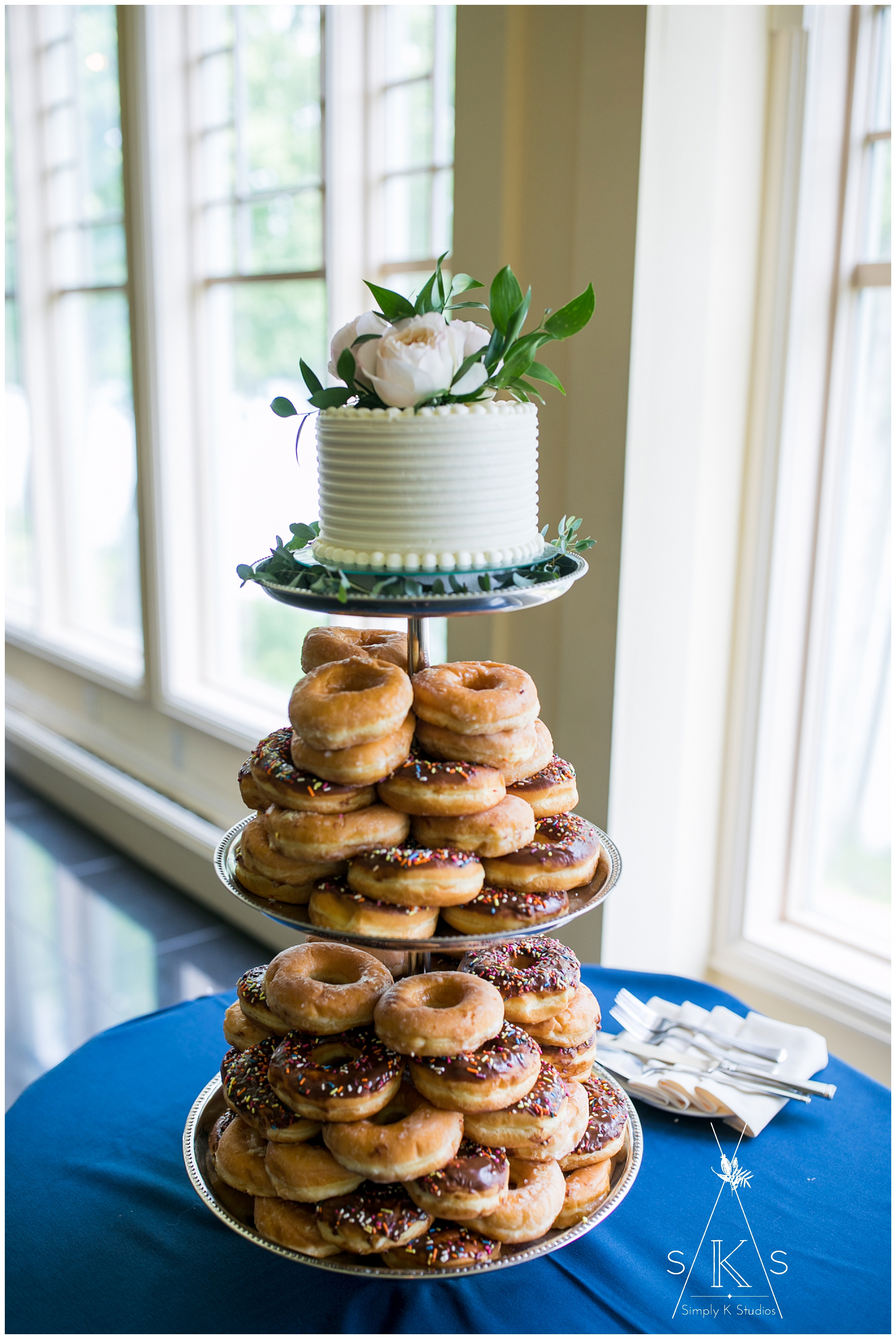 Wedding Cake with Donuts