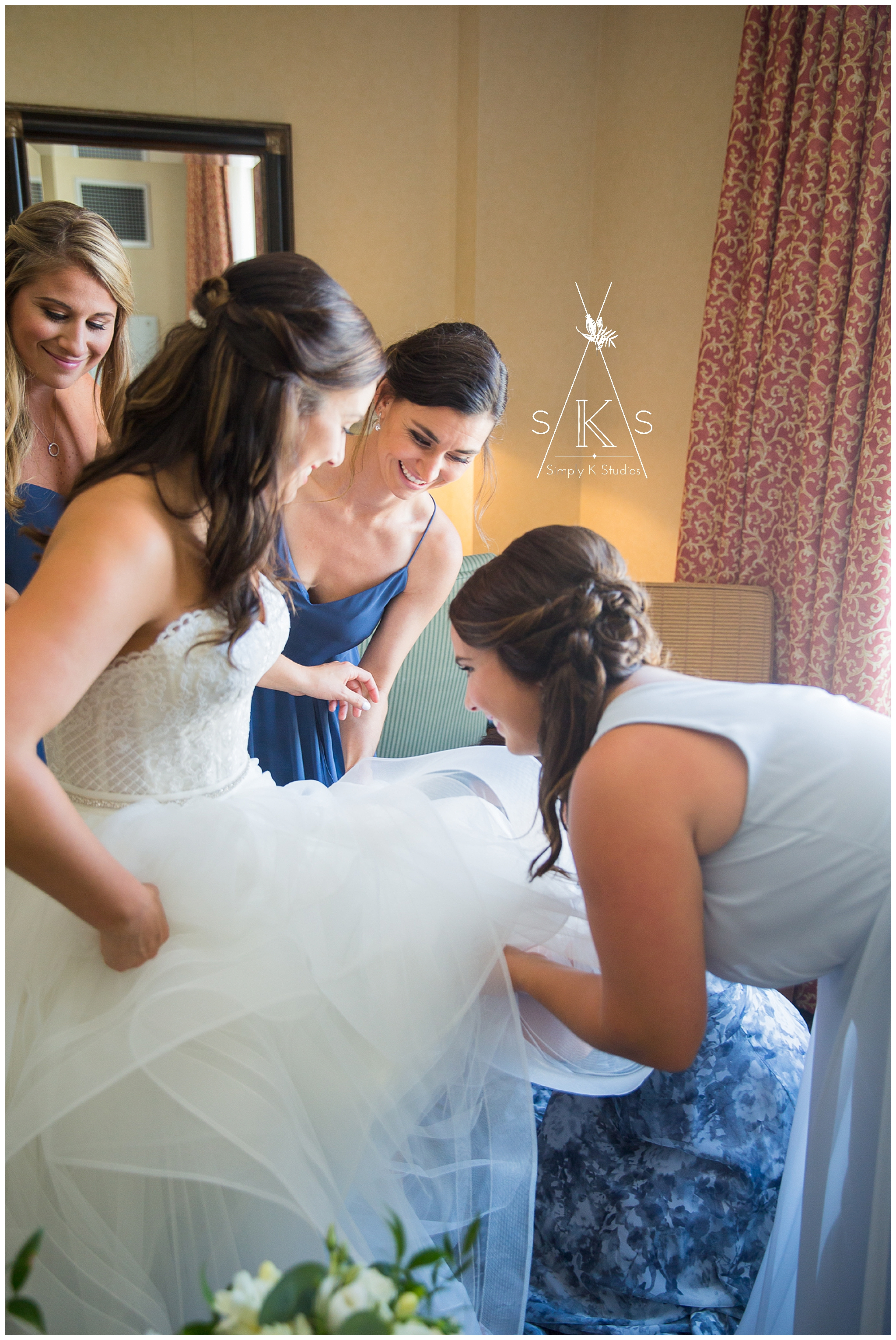 Photos of getting ready before a wedding