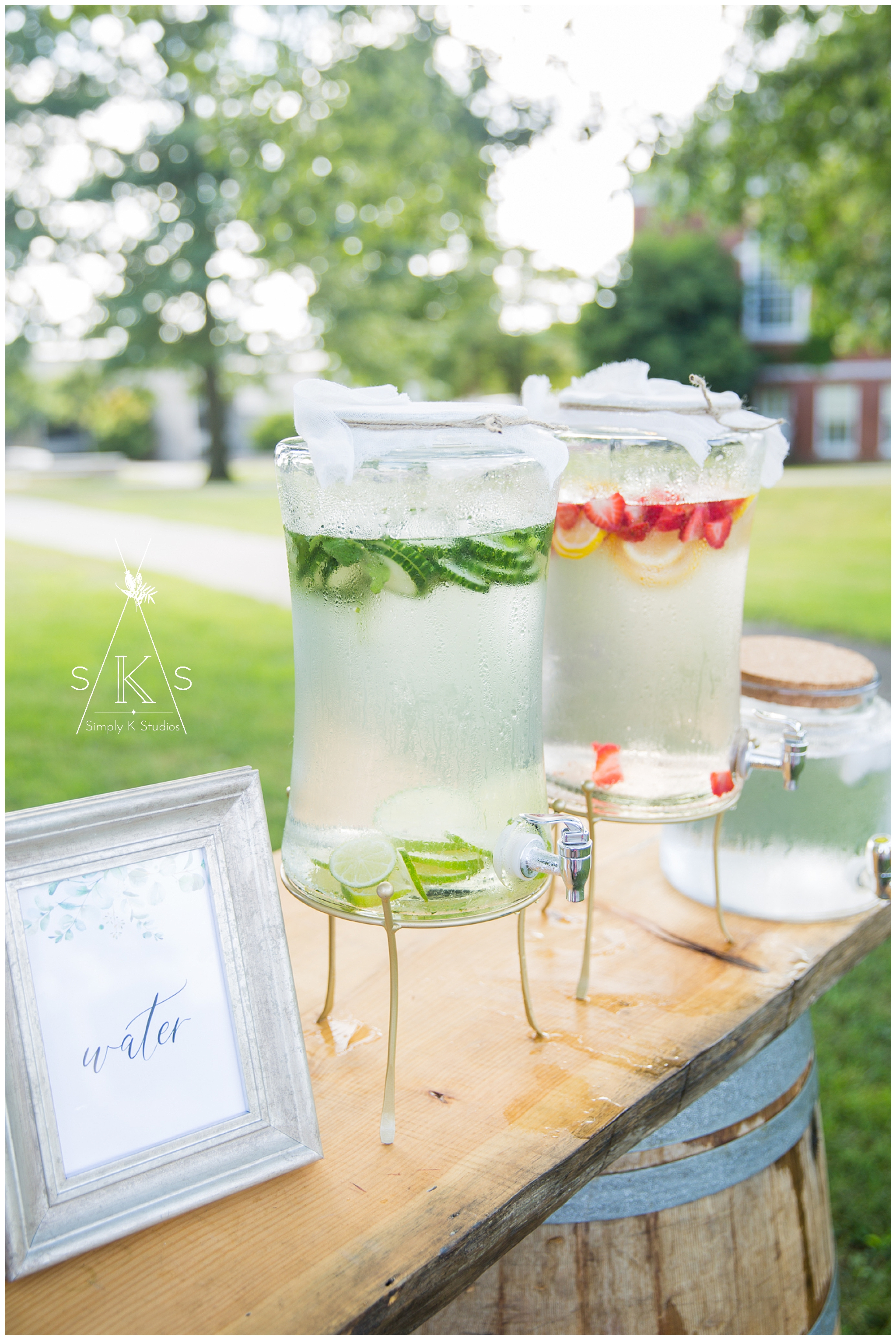 Summer Wedding Idea Water Station Flavored Water