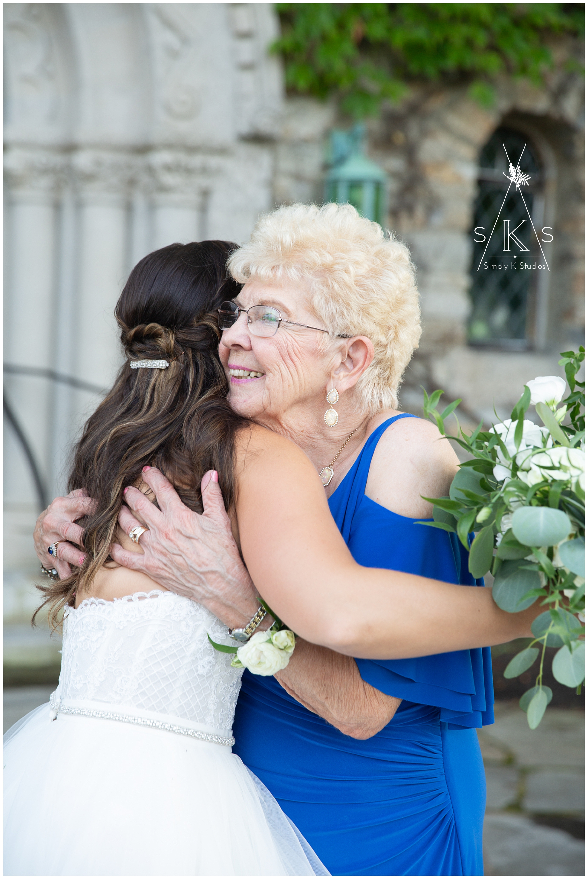 Cute grandma at her granddaughter's wedding