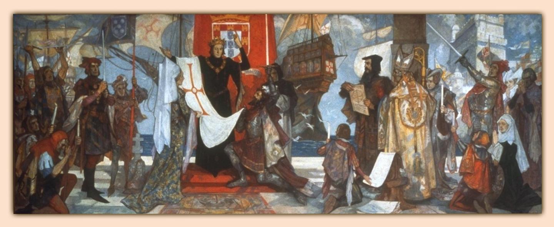 Vasco da Gama Leaving Portugal, mural by John Henry Amshewitz