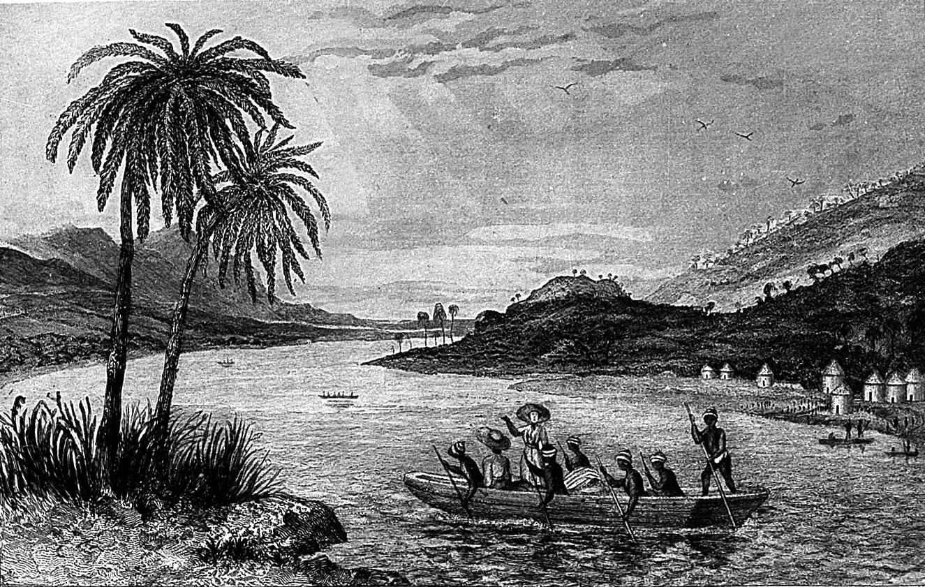 Richard and John Lander traveling down the Niger.