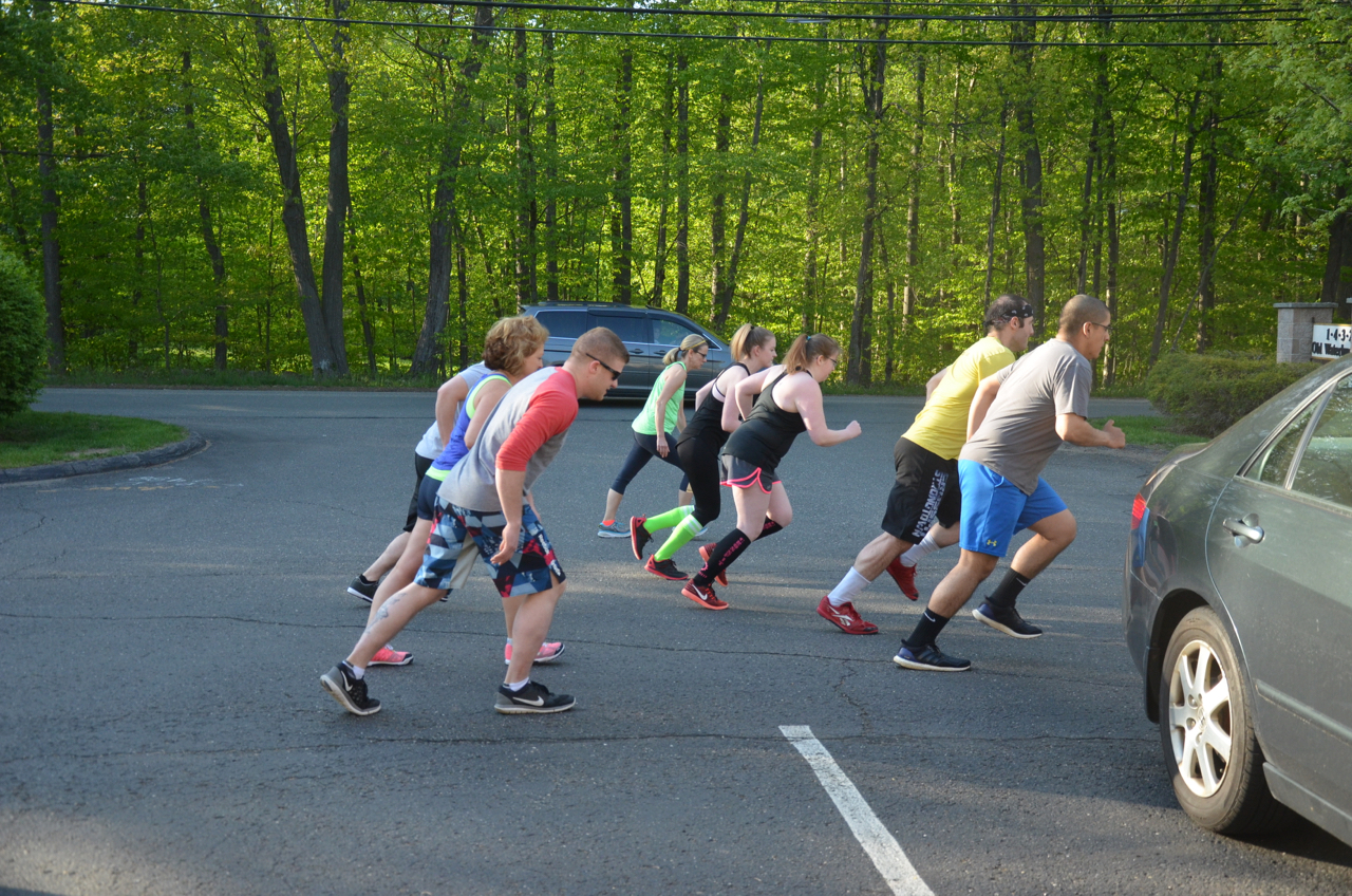 The 6pm class starting their for time, time trials.