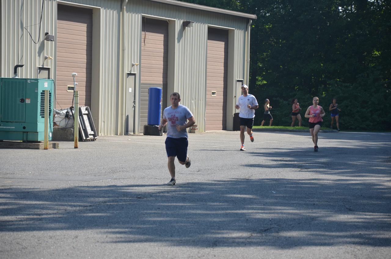 Garrett looking strong on his runs.