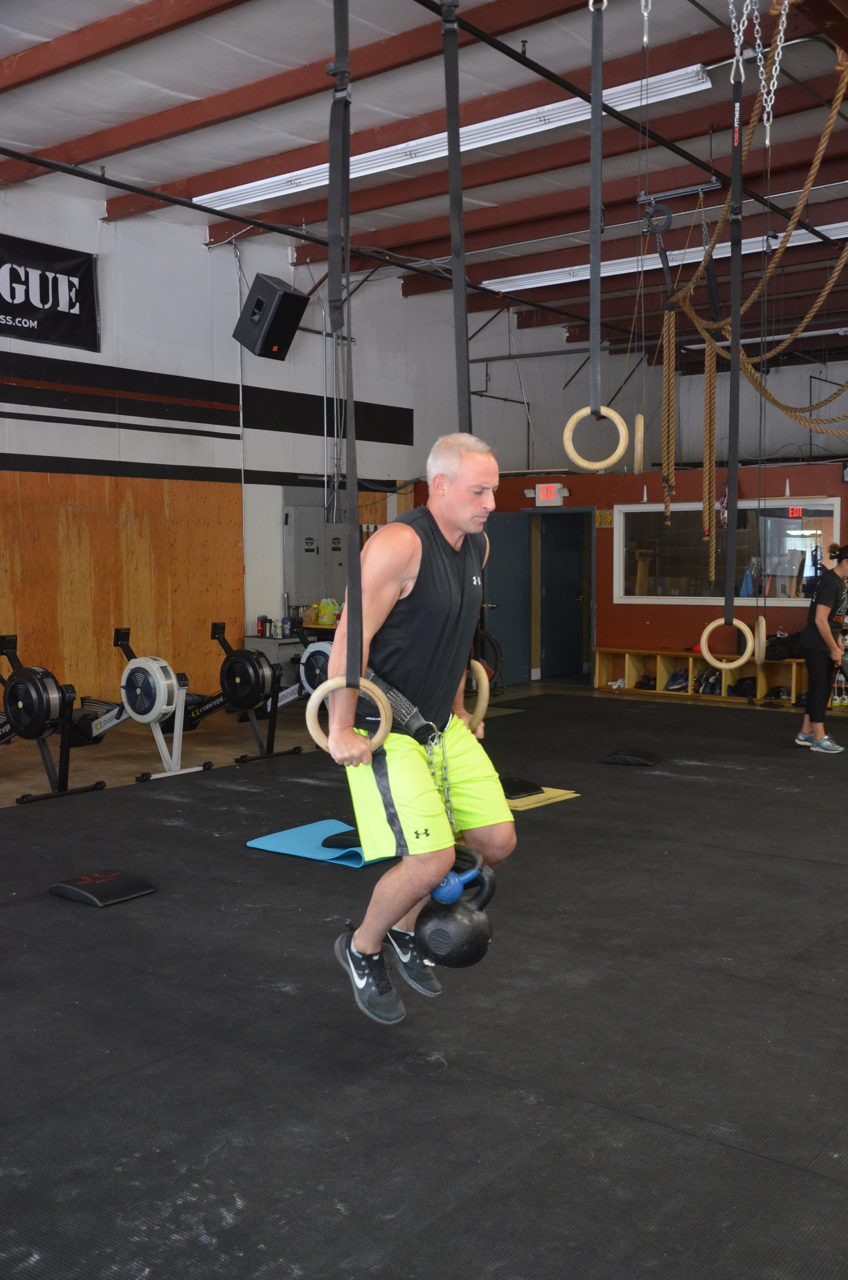 Paul looking strong on his ring dips.