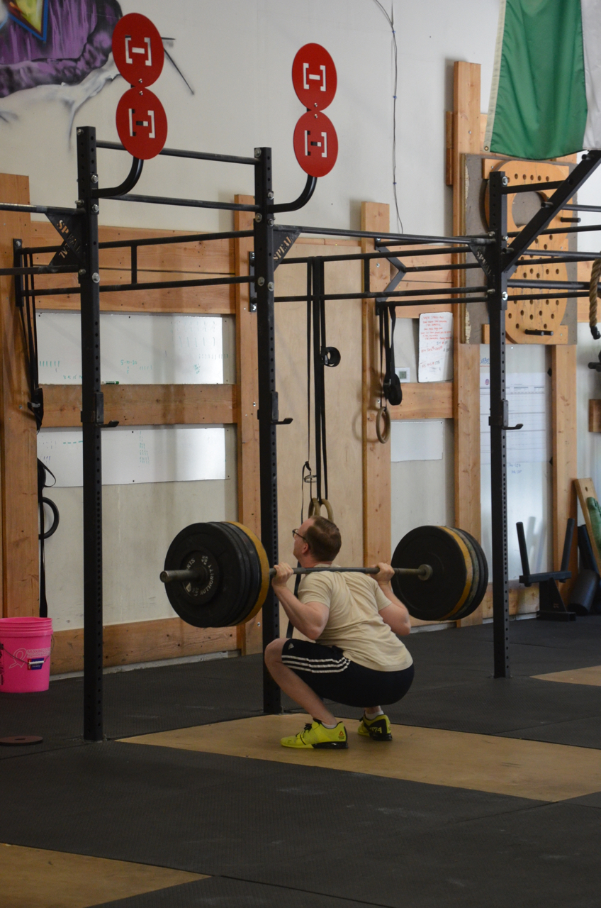 Jay showing some solid depth in his back squats.