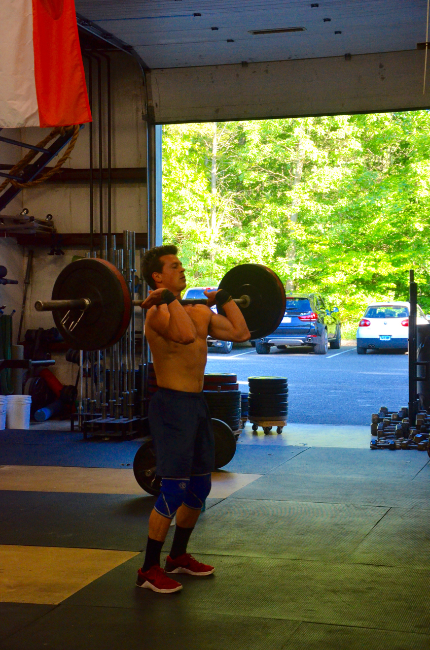 Brendan looking strong on his power cleans.