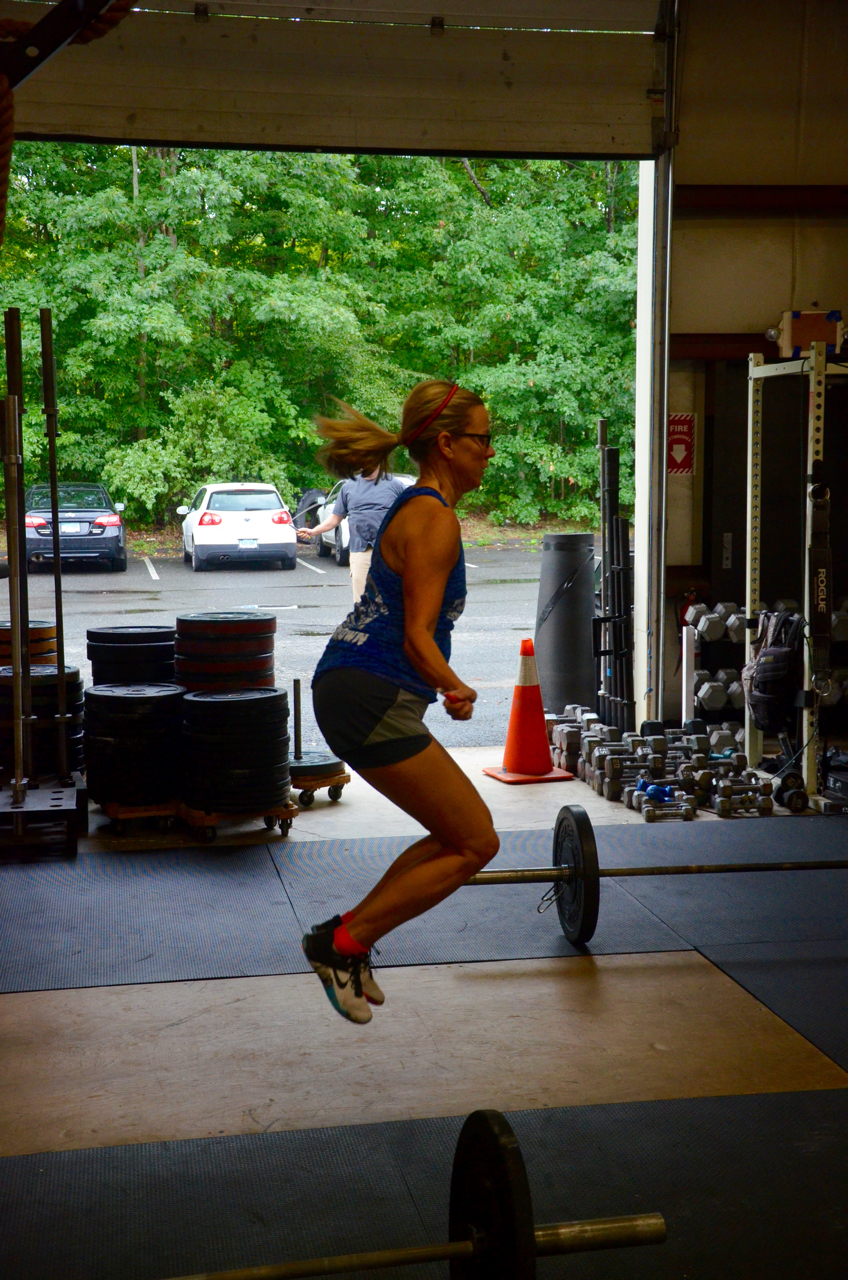 Paula working through her double unders.