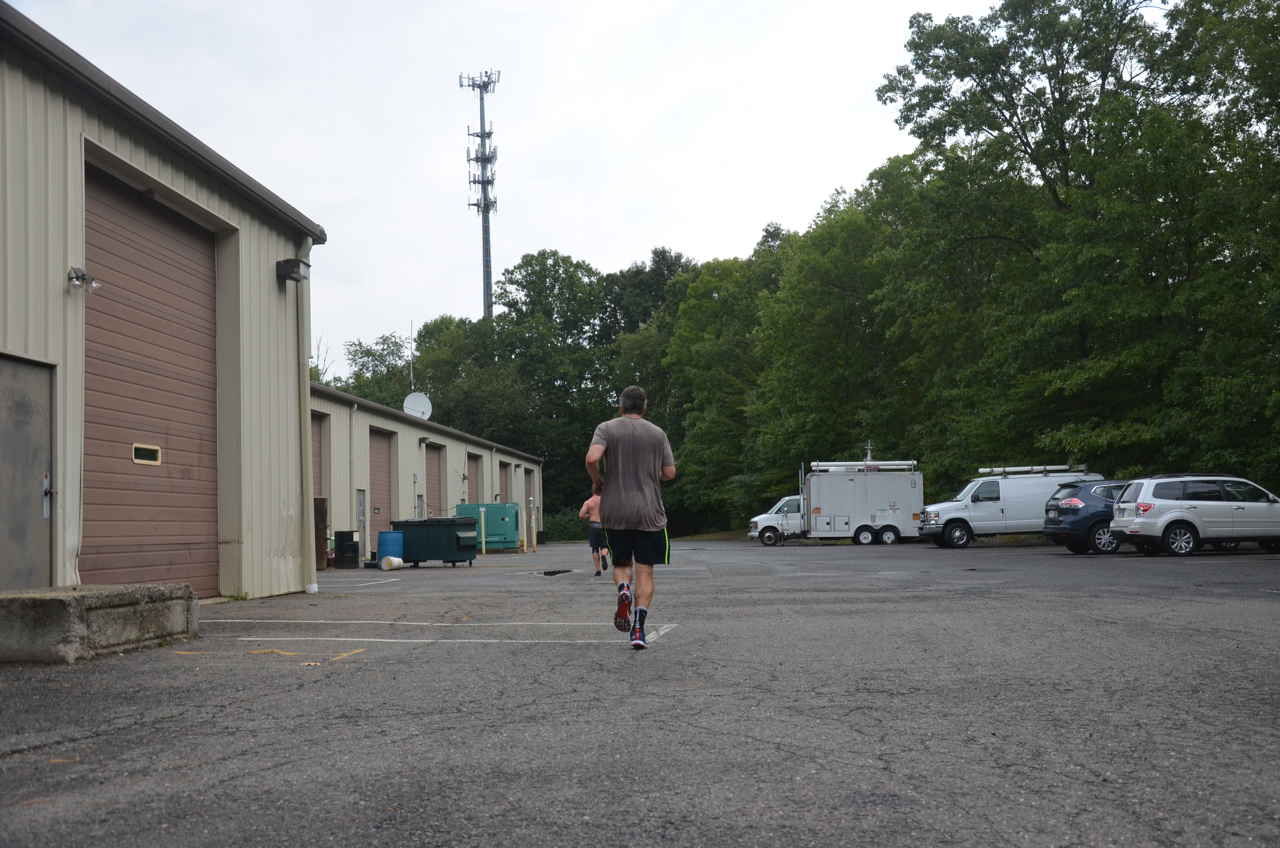 Bill heading out for his run.
